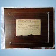 1760 Bedford County,Virginia order to Sheriff to collect Property King George II