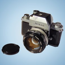 Nikon F1 Professional 35mm SLR Film Camera with 50mm F1.4 Prime Lens