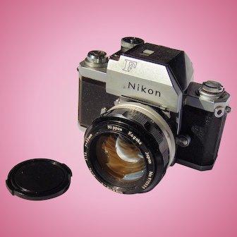Nikon F1 Professional 35mm SLR Film Camera with 50mm F1.4 Prime Lens