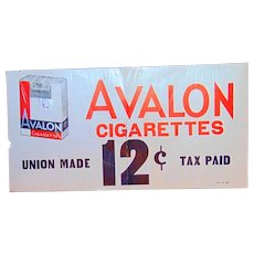 1930's Avalon Cigarettes General Store Sign