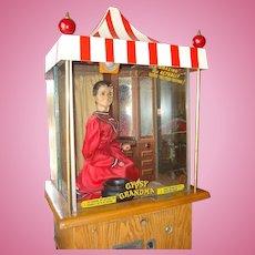 1957 Genco Gypsy Grandma Fortune Teller Arcade Machine NONE FINER