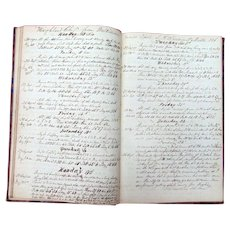 Captain Fenton Sturdivant's  Logbook Ship Highland Chief & Milan 1852-1857  Portland,Maine
