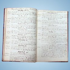 Captain Fenton Sturdivant's  Logbook Ship Highland Chief & Milan 1852-1857  Portland,Maine