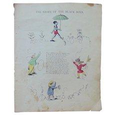 Civil War Pro-Slavery Propaganda Original Artwork 'The Story of the Black Boys'
