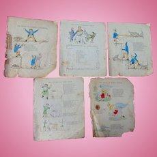 Original Artwork for the Book Struwwelpeter Slovenly Peter 1845