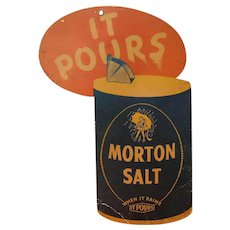Morton Salt Hanging Store Advertisement from 1942.