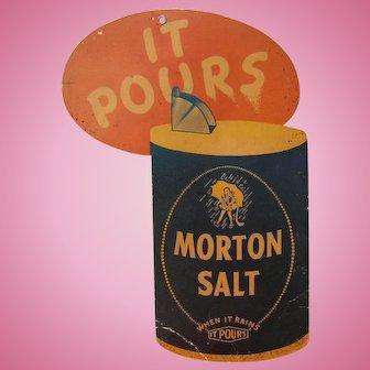 Morton Salt Hanging Store Advertisement from 1942.