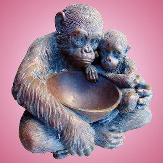 Unique Jungle Book Gorilla & Child Cookie Candy Table Top Sculpture