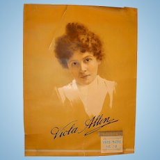 Rare Early American Theater Poster for Viola Allen Huntsville,Alabama