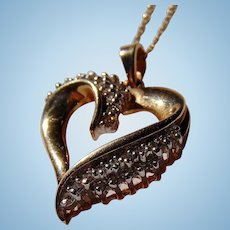 Unstoppable Love & Romance Gold & Diamond Heart Pendant with 14K  Gold Chain