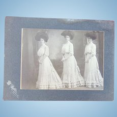 Three Stylish Sisters of Vallejo,Ca Victorian Photograph
