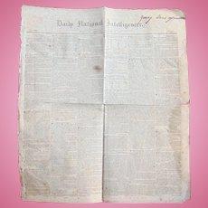 Washington Globe (Newspaper) - March 16, 1838, Washington, District Of Columbia