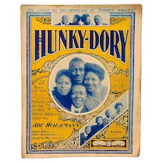 Ragtime Black Americana Cake Walk Sheet Music Hunky-Dory 1900