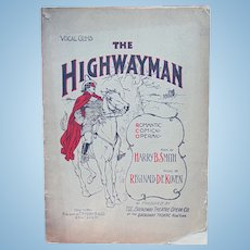 1897 The Highway Man a Comic Art in Three Acts