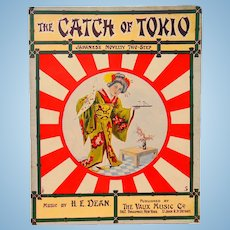 Sheet Music The Catch Of Tokyo A Japanese Novelty Two Step 1904