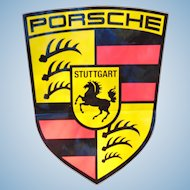 1970's Porsche Dealership Large impressive Decal