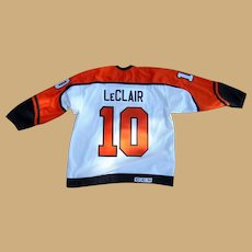 John LeClair Philadelphia Flyers Autographed Game uniform
