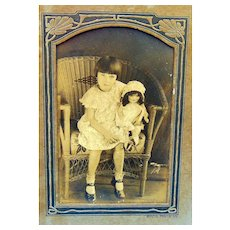 Original Family photo of Mary Ann (Jackson) with doll Our Gang Comedy