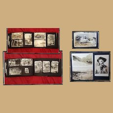 1930's Family Photo Album Texaco Gas Station 330 photos & RPPC
