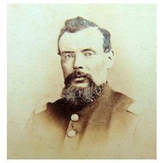 Civil War CDV Photo Capt.A.Gardner Co.I NY Heavy Artillery Killed at Cold Harbor,Va., 1864