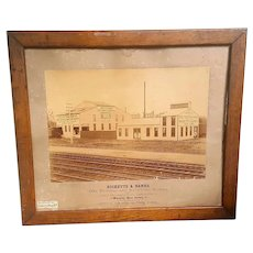 1890's Mammoth Albumen Ricketts & Banks Factory Waverly,New Jersey