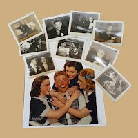 Original behind the scenes Snapshots of Judy Garland & Mickey Rooney