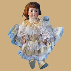Armand Marseille Red Head Bisque Doll in Fabulous Frily Dress