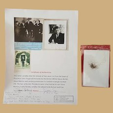 President John F. Kennedy's Substantial Lock of Hair with Provenance JFK