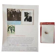 President John F. Kennedy's Substantial Lock of Hair with Provenance JFK