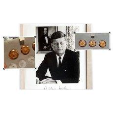 President John F.Kennedy's 14k Gold Suit Buttons with Provenance JFK