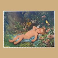 "1893 Worlds Fair Chromatography  Cupid Resting ""Le reveil de l'Amour"