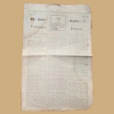 1768 Newspaper The Freeman's Journal Dublin, Ireland