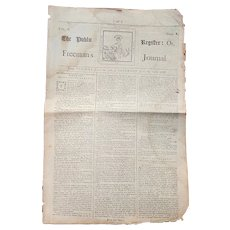 1768 Newspaper The Freeman's Journal Dublin, Ireland