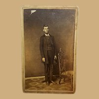 CDV Photo Abraham Lincoln impostor Steubenville,Ohio  G.W.Weiser  photographer