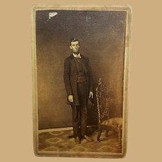 CDV Photo Abraham Lincoln impostor Steubenville,Ohio  G.W.Weiser  photographer