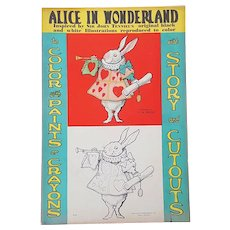 Scarce 1930 Alice in Wonderland Story and Cutouts FIRST EDITION Lewis Carroll; John Tenniel