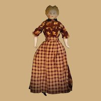 Blonde Southern Belle China Head Doll with Lovely Dress & Apron Palatka Florida