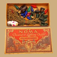 1927 Noma Christmas Lights still in original box Santa Claus