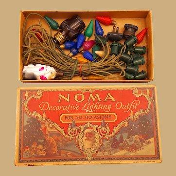 1927 Noma Christmas Lights still in original box Santa Claus