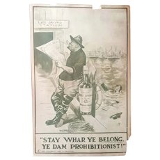1911 Teddy Roosevelt Anti-Prohibition Broadside
