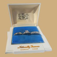 Gorgeous  Estate 14k  Diamond Bridal Set in Custom Case