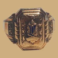 1945 Douglas Center African-American 10K High School Ring Live Oaks,Florida