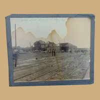 1896 St.Louis Cyclone Tornado Destruction Railroad Depot  Antique Photo
