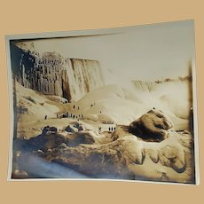 Frozen Niagara Falls original photograph by George Barker