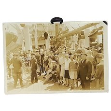 Antique Photo of S.S.Vestris  with Band and Gleeful Passengers