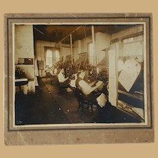 Antique Photo The Macon, Georgia  Telegraph Newspaper production room