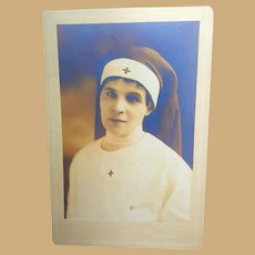 Antique Photo of World War 1  Beautiful Nurse