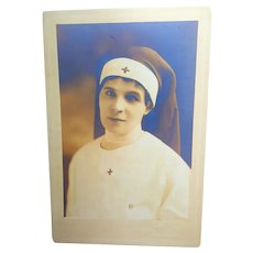Antique Photo of World War 1  Beautiful Nurse