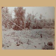 Antique Photo Railroad Storm Disaster  Jennings County, Indiana by Jorns & Harrod Palace Art Car