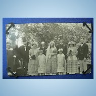 Kissing Cousins~Hillbilly Wedding 1928 RPPC
